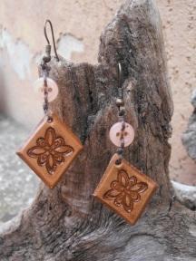 Losanges marrons motif carré