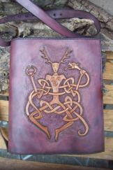 Porte livre représentant Cernunnos, un dieu celte